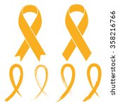 gold ribbon   childhood cancer | Shutterstock .eps vector #358216766