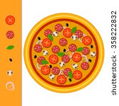 pizza delivery. pizza... | Shutterstock .eps vector #358222832