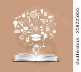 vector background knowledge... | Shutterstock .eps vector #358225832