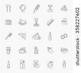 cosmetic icons   Shutterstock .eps vector #358227602