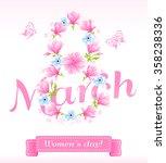 vector eps 10. beautiful wreath ...   Shutterstock .eps vector #358238336