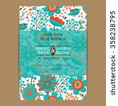 invitation or announcement card ...   Shutterstock .eps vector #358238795