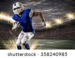 football player with a blue... | Shutterstock . vector #358240985