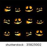 halloween night background ...   Shutterstock .eps vector #35825002