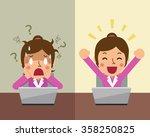 cartoon businesswoman... | Shutterstock .eps vector #358250825