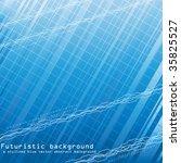 futuristic background. vector. | Shutterstock .eps vector #35825527