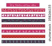 valentine washi tape scrapbook... | Shutterstock .eps vector #358266155
