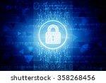 security concept  lock on... | Shutterstock . vector #358268456