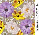 elegance seamless color flower...   Shutterstock .eps vector #358270196