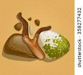 branch on stones in water  view ... | Shutterstock . vector #358277432