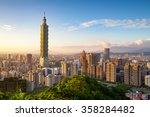 City Of Taipei At Sunset  Taiwan