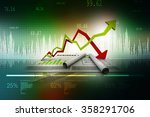 inflation and deflation graph | Shutterstock . vector #358291706