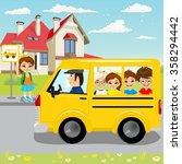 little girl waiting for...   Shutterstock .eps vector #358294442