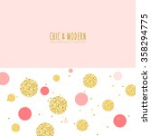 Modern Chic Gold Pink Polka Dot ...