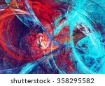 Abstract Beautiful Red And Blu...