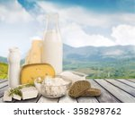 dairy product. | Shutterstock . vector #358298762