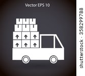 flat truck icon. vector | Shutterstock .eps vector #358299788
