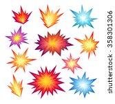 star bursting boom.comic book... | Shutterstock .eps vector #358301306