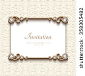 vintage card with diamond... | Shutterstock .eps vector #358305482
