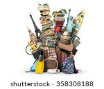 luggage  goods for holidays ... | Shutterstock . vector #358308188