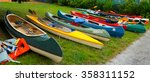 Canoes And Kayaks   Group Of...