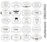 set of vintage label on dark... | Shutterstock .eps vector #358315022