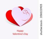happy valentin's day | Shutterstock .eps vector #358323905