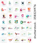 mega set of paper logo abstract ... | Shutterstock .eps vector #358324976