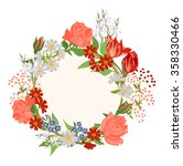 vector background with flowers...   Shutterstock .eps vector #358330466
