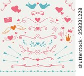 valentine's day collection  set ... | Shutterstock .eps vector #358331228
