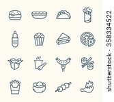 fastfood line icon set | Shutterstock .eps vector #358334522