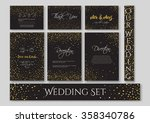 wedding set cards with the... | Shutterstock .eps vector #358340786