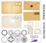 vintage postcard designs... | Shutterstock .eps vector #358346366