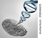 genetic fingerprinting as a... | Shutterstock . vector #358348655