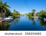 typical waterfront community in ... | Shutterstock . vector #358354082