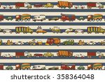 cars toy pattern   Shutterstock .eps vector #358364048