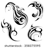 tattoo design  maori and... | Shutterstock .eps vector #358375595