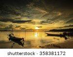 silhouette at sunset  koh samui ... | Shutterstock . vector #358381172
