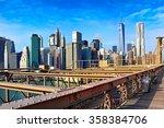 Brooklyn Bridge And Manhattan ...