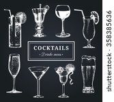 cocktails menu. hand sketched... | Shutterstock .eps vector #358385636