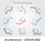 vector hand drawn arrows.3d... | Shutterstock .eps vector #358391882