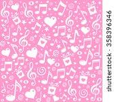 happy st. valentine's day  pink ... | Shutterstock .eps vector #358396346