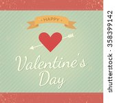 happy valentines day card.... | Shutterstock .eps vector #358399142