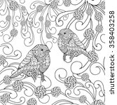 Birds Coloring Page. Animals....
