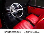 classic car interior   red...