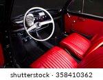 classic car interior   red... | Shutterstock . vector #358410362