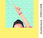 vanilla collage. let's go to... | Shutterstock . vector #358411508