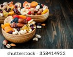 Mix Of Dried Fruits And Nuts O...