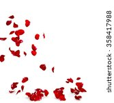 Stock photo rose petals fall to the floor isolated background d render 358417988