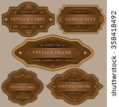 Vintage labels and frames.Vector set of calligraphic Vintage labels and frames design elements. - Illustration